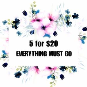 5 For $20! On all Items priced $8-12!